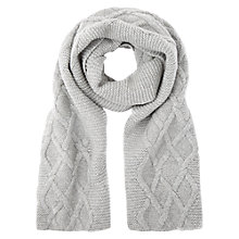 Buy Hobbs Oversized Cable Knit Scarf Online at johnlewis.com