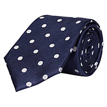 Buy Chester by Chester Barrie Large Dot Silk Tie Online at johnlewis.com
