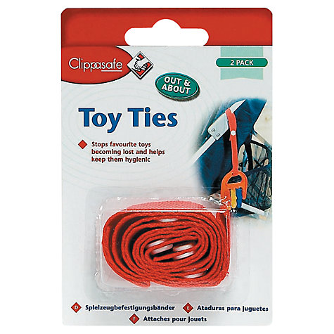 Buy Clippasafe Baby Toy Ties, Pack of 2, Assorted Online at johnlewis.com
