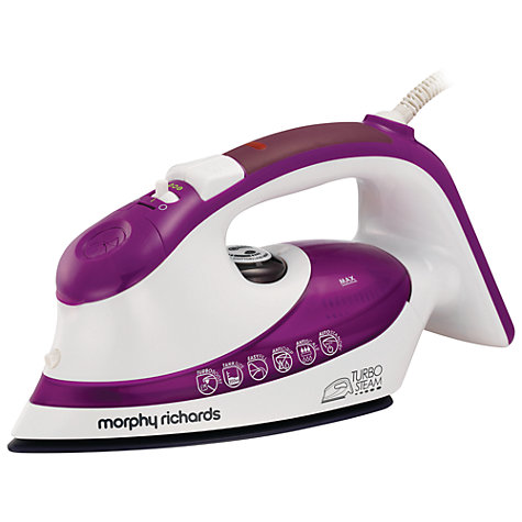 Buy Morphy Richards 300602 Turbosteam Steam Iron, Plum Online at johnlewis.com