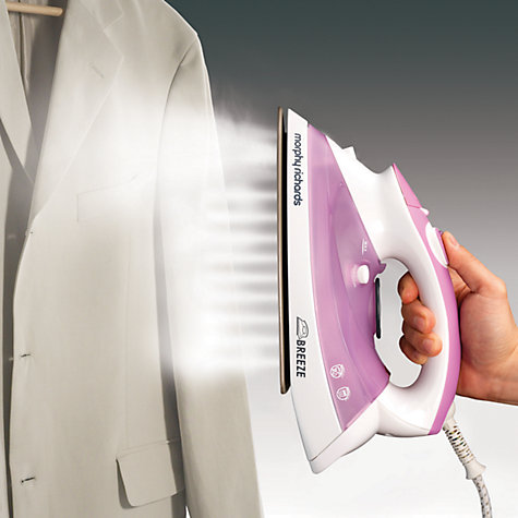Buy Morphy Richards 300204 Breeze Steam Iron, Lilac Online at johnlewis.com