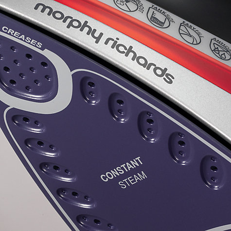 Buy Morphy Richards 301011 Comfigrip Steam Iron, Black/Red Online at johnlewis.com