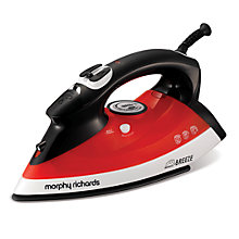 Buy Morphy Richards 300203 Breeze Steam Iron, Red Online at johnlewis.com