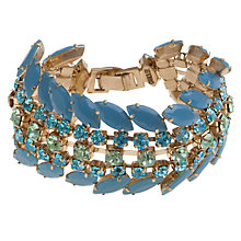 Buy Carolee Gold Toned Wide Rhinestone Bracelet Online at johnlewis.com