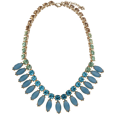 Buy Carolee Gold Toned Crystal Glass Fan Necklace Online at johnlewis.com