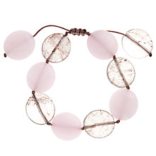 Buy Lola Rose Kinley Pink Champagne Quartzite Smoked Rock Crystal Friendship Bracelet Online at johnlewis.com