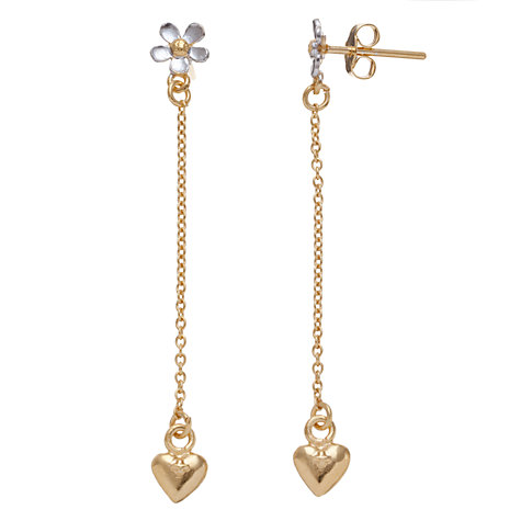 Buy Alex Monroe 22ct Gold Vermeil Daisy Chain Drop Earrings, Gold Online at johnlewis.com
