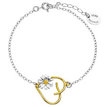 Buy Alex Monroe 22ct Gold Vermeil 150th Anniversary Daisy Heart Bracelet, Silver / Gold Online at johnlewis.com