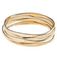 Buy John Lewis Wave Bangles, Pack of 5 Online at johnlewis.com