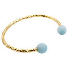 Buy Azuni 18ct Gold Plated Faceted Bead Open Bangle Online at johnlewis.com