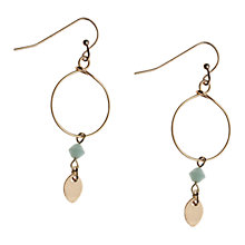 Buy Orelia Gold Toned Opal Bead Drop Earrings Online at johnlewis.com