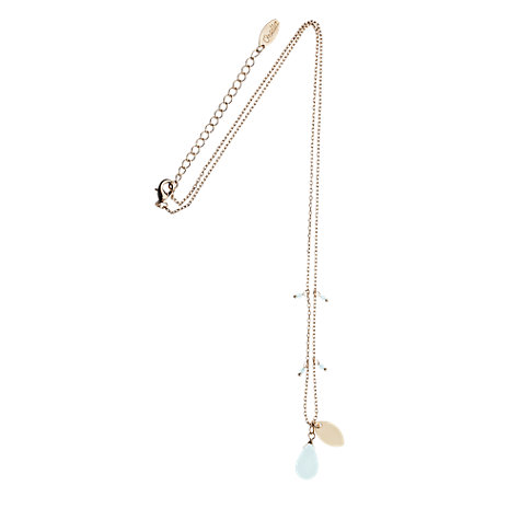 Buy Orelia Gold Toned Blue Stone Pendant Necklace Online at johnlewis.com