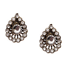 Buy Orelia Gold Toned Glass Crystal Moroccan Stud Earrings Online at johnlewis.com