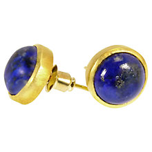 Buy Azuni 18ct Gold Plated Button Stud Earrings Online at johnlewis.com