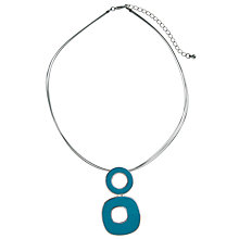 Buy John Lewis Silver And Teal Double Drop Pendant Necklace Online at johnlewis.com
