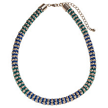 Buy John Lewis Silver Toned Beads And Two Tone Cord Necklace Online at johnlewis.com