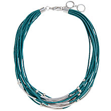 Buy John Lewis Silver Toned Multi Cord Necklace, Teal Online at johnlewis.com