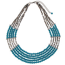 Buy John Lewis Silver Toned Beads And Crystal Stone Egyptian Collar Necklace Online at johnlewis.com
