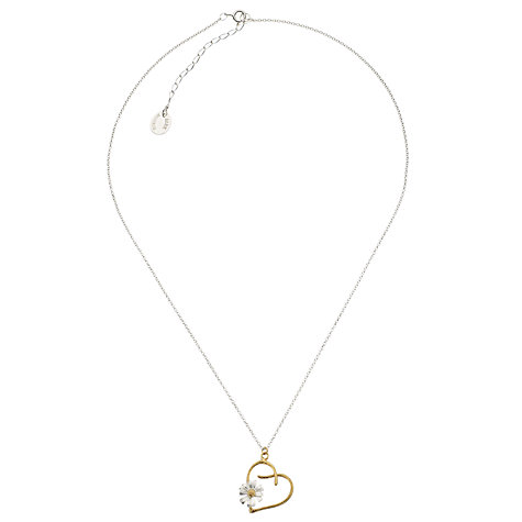 Buy Alex Monroe Floral Daisychain Pendant, Silver / Gold Online at johnlewis.com