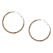 Buy Orelia Gold Toned Chain Wrap Hoop Earrings Online at johnlewis.com