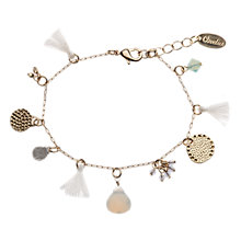Buy Orelia Gold Toned Assorted Charms Colonial Bracelet Online at johnlewis.com