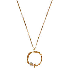 Buy Alex Monroe 22ct Gold Vermeil Flower Wreath Pendant Online at johnlewis.com