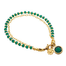Buy Azuni 18ct Gold Plated Double Chain Bracelet Online at johnlewis.com