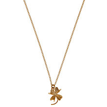 Buy Alex Monroe 22ct Gold Vermeil Clover Pendant Necklace Online at johnlewis.com