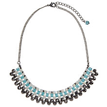 Buy John Lewis Silver Toned Mini Sparkle Facet Necklace Online at johnlewis.com