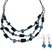 Buy John Lewis Silver Toned Necklace And Earrings Gift Set, Teal Online at johnlewis.com