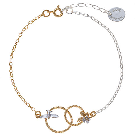 Buy Alex Monroe 22ct Gold Plated Vermeil Wreath Linked Bracelet Online at johnlewis.com