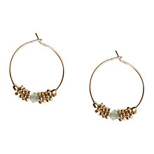 Buy Orelia Gold Toned Opal Bead Hoop Earrings Online at johnlewis.com