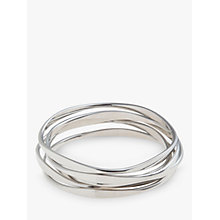 Buy John Lewis Wave Bangles, Pack of Five, Silver Online at johnlewis.com