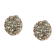 Buy Orelia Gold Toned Chrysolite Pave Stud Earrings Online at johnlewis.com