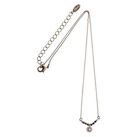 Buy Orelia Gold Toned Hematite Pave Disc Pendant Necklace Online at johnlewis.com