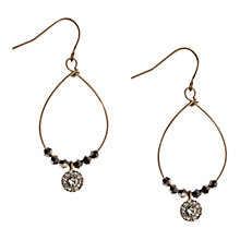 Buy Orelia Gold Toned Hematite Bead Pave Drop Earrings Online at johnlewis.com