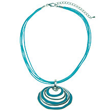 Buy John Lewis Enamel Hoops Pendant, Teal Online at johnlewis.com