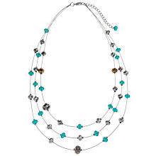 Buy John Lewis Silver Toned Illusion Sparkle Necklace, Teal Online at johnlewis.com