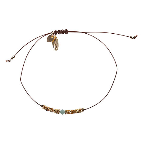 Buy Orelia Gold Toned Flower Bead Friendship Bracelet, Brown Online at johnlewis.com
