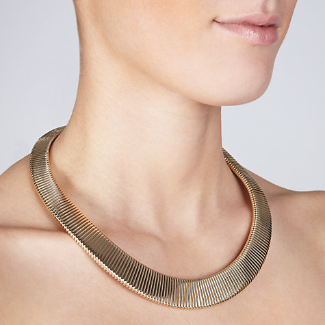 Buy John Lewis Gold Toned Flex Necklace Online at johnlewis.com