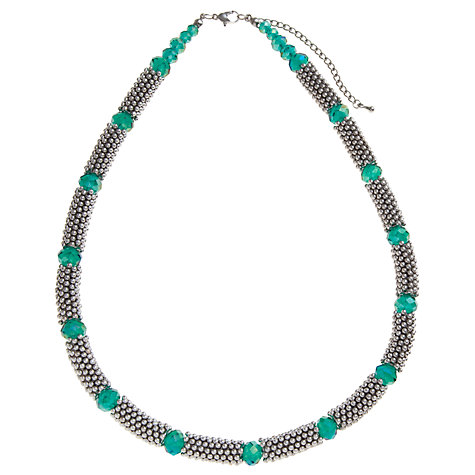 Buy John Lewis Silver Tone And Teal Beads Effer Necklace Online at johnlewis.com