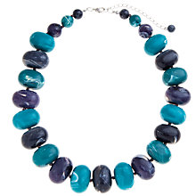 Buy John Lewis Oval Beads Necklace, Teal / Purple Online at johnlewis.com