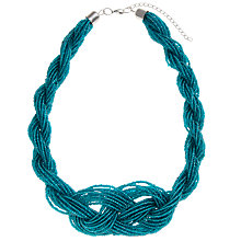 Buy John Lewis Twisted Seed Bead Necklace, Teal Online at johnlewis.com