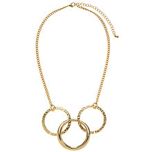 Buy John Lewis Gold Plated Three Hoop Necklace Online at johnlewis.com