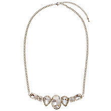 Buy John Lewis Assorted Stone Box Chain Necklace, Silver Online at johnlewis.com