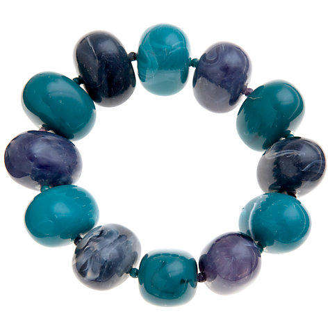 Buy John Lewis Oval Bead Necklace, Teal / Purple Online at johnlewis.com