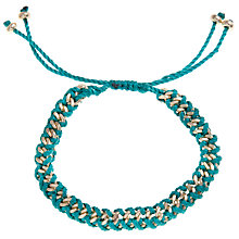 Buy John Lewis Gold Plated Woven Bracelet, Teal Online at johnlewis.com