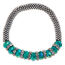 Buy John Lewis Silver Plated Effer Bracelet, Teal Online at johnlewis.com