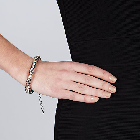 Buy John Lewis Silver Plated Ring And Hoop Bracelet, Teal Online at johnlewis.com