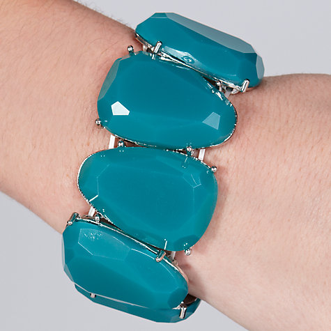 Buy John Lewis Silver Plated Large Jewel Bracelet, Teal Online at johnlewis.com